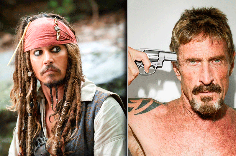 Johnny Depp e John McAfee